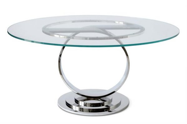 Tempest Centre Table - Stainless Steel