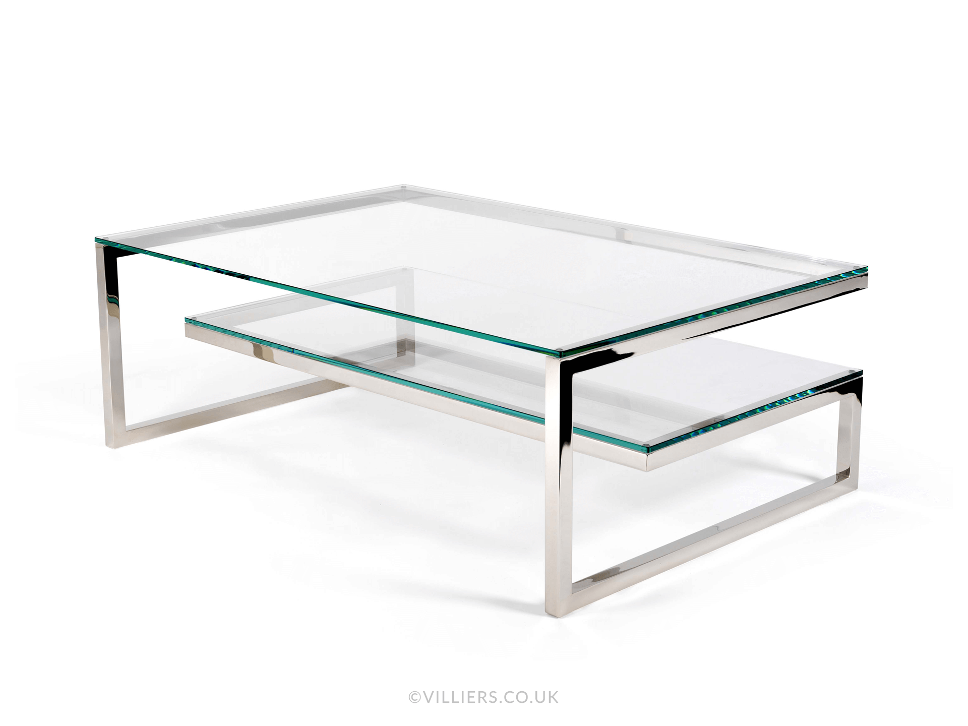 Bronx Coffee Table - Stainless Steel