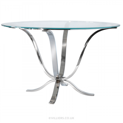 Caspian Dining Table 01 - Stainless Steel