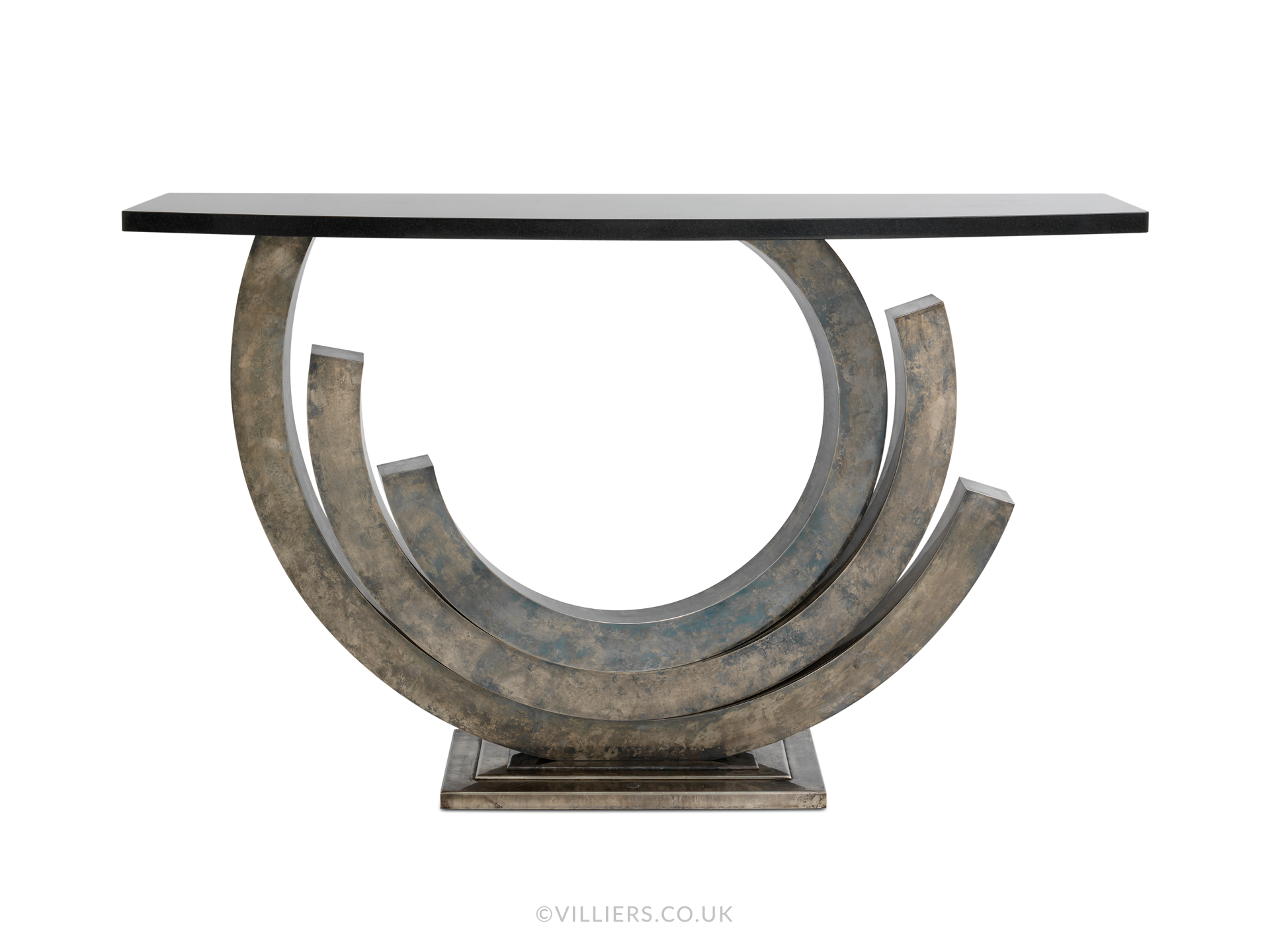 Revolution Console Table - Vintage Silver