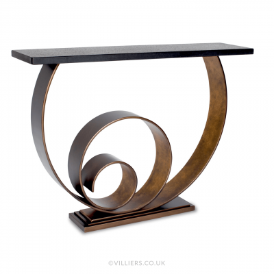 Vertigo Console Table - Bronze