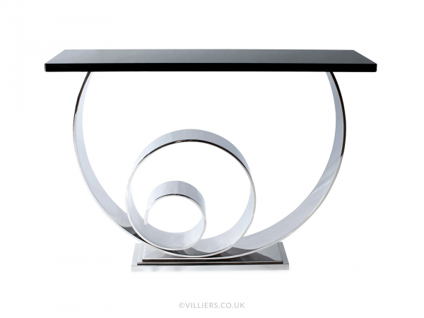 Vertigo Console Table - Steel